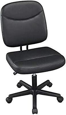 Armless Office Chair Mid-Back Task Chair Adjustable Desk Chair Black-Office Chair-Desk Chair-The Office-Ergonomic Office Chair-Home Office Desk Chairs-Computer Chair-Computer Chairs-Office Chairs