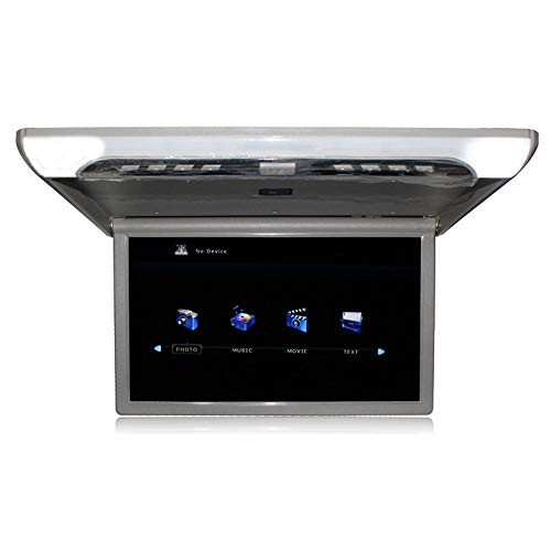 LZHYA Auto Deckenmonitor Bildschirm/Dachmontage Monitor, Full HD Video Overhead Player, Flip-Down Auto-Dach Brachte Monitor, USB SD HDMI 1920 * 1080 Pixel Mp5, 19 Zoll (Grey)