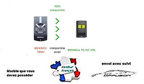 Vervangende afstandsbediening voor Beninca T2WV / garagedeur
