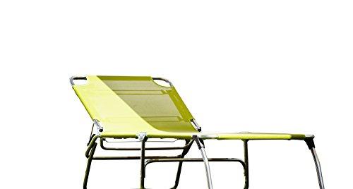 74 Cm largeur 3 pieds en aLUMINIUM 5,9 kg - 40 cm de haut-plage-piscine sauna terrasse bain de soleil chaise longue trois pieds jANKURTZ 207 x 74 cm-hauteur : 40 cm-couleur : jaune sTABIELO)-charge maximale : 120 kg-dISTRIBUTION-® holly produits sTABIELO contre supplément avec holly fÄCHERSCHIRMEN sur demande-holly-sunshade ®-fabriqué en innovation allemagne