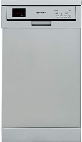 Sharp QW-HS12F472S-DE Geschirrspüler freistehend 45cm / A++ / 10 Maßgedecke / 3 Programme/Silber