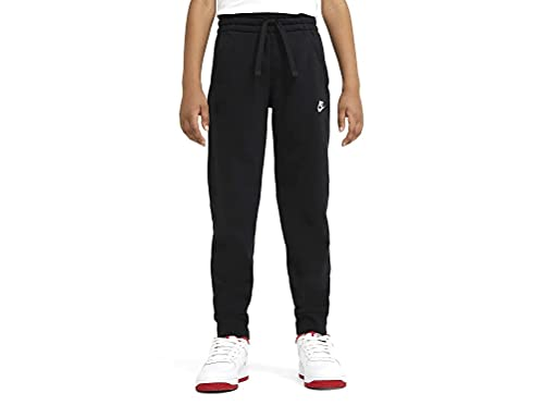 Nike Boys Sportswear Club Fleece Sweatpants, Black/White, 12 Jahre