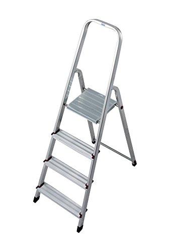 Preisvergleich Produktbild Krause 000705 Stufen-Stehleiter Aluminium max. Arbeitshöhe 2.80 m