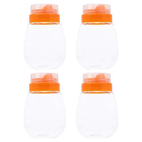 Hemoton 4Pcs Honig Jar 500Ml Versiegelt Jam Jars Container Lebensmittel Können Transparent Honig Versiegelt Kanister Lebensmittel Süßigkeiten Jar Container mit Reflux Einlass für Getreide