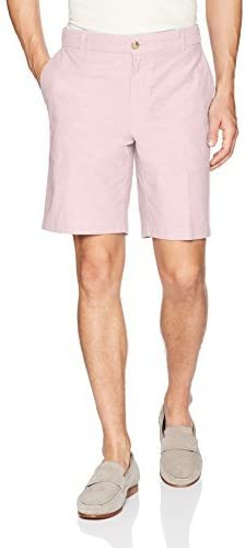 IZOD Men's Flat Front Solid Oxford Shorts
