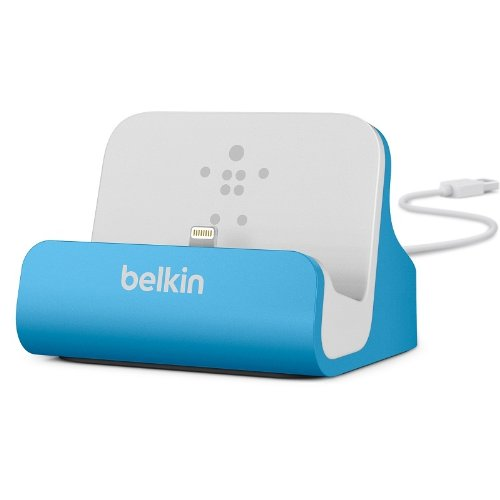 Belkin Lightning Lade/Sync-Dockingstation (mFI-zertifiziert, incl 1,2m USB-Kabel, geeignet für iPhone 8, iPhone 7, iPhone 6/6s, iPhone 5/5s/5c, iPhone SE) blau