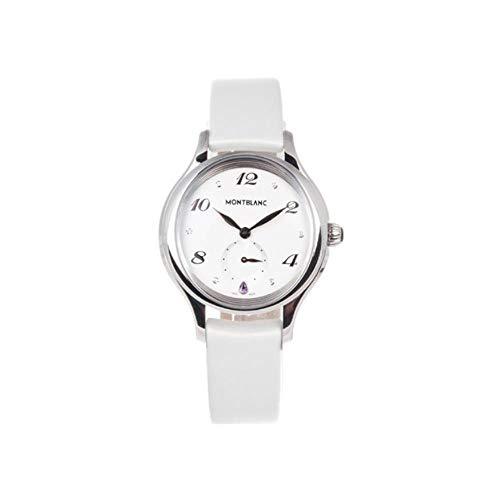 Montblanc Reloj de Mujer Cuarzo 34mm Correa de Cuero Caja de Acero 107334