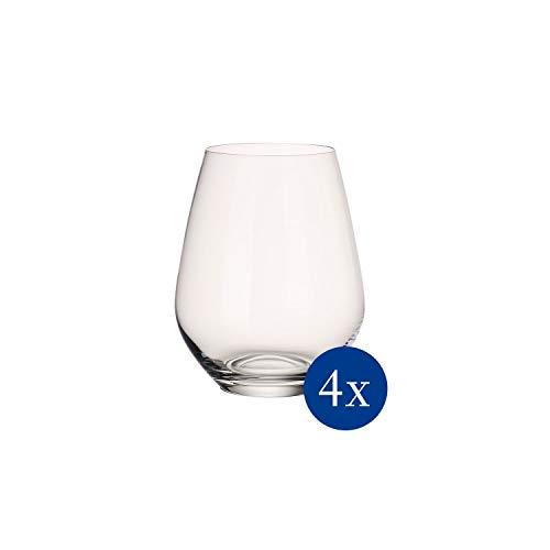 Villeroy & Boch Set di Bicchieri Acqua Ovid, 4 Pezzi, Bicchieri per Bevande Fredde, Forma Panciuta, Cristallo, per Lavastoviglie, Trasparente, 420 ml