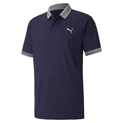 PUMA Golf 2020 Men's Lions Polo, Peacoat, Large