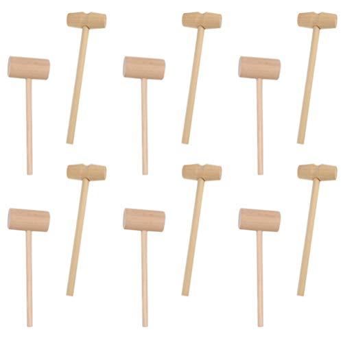 Cabilock 50 Piezas Mini Martillo de Madera Cangrejo Mazos de Langosta Mazo de Martillo de Juguete Mazo de Madera Martillo Educativo Juguete Martillo de Paliza Juguetes para Niños Niñas