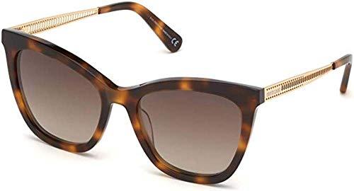 Roberto Cavalli Gafas de sol RC 1112 52F Shiny Havana, oro rosa/marrón degradado