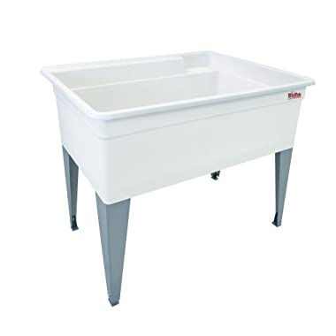 Mustee 28F Bigtub Utilatub Laundry Tub Floor Mount, 24-Inch x 40-Inch, White