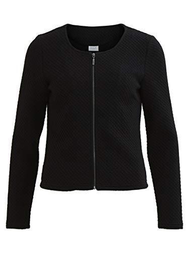 Vila Clothes Vinaja New Short Jacket-Noos Chaqueta de Traje, Negro (Black), 36 (Talla del Fabricante: Small) para Mujer