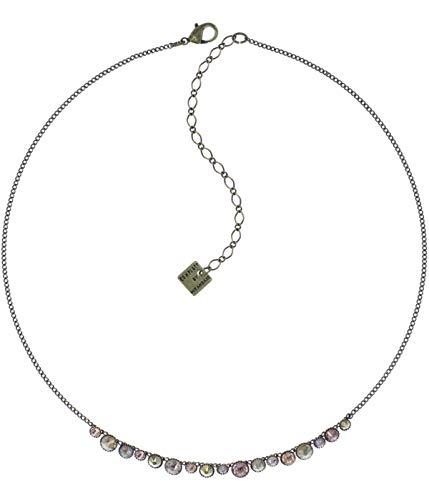 Konplott Water Cascade Hals-Kette Designer-Mode-Schmuck mit Swarovski Elements | Collier für Damen mit Glitzer-Steinen in Beige | Schönes Weihnachts-Geschenk