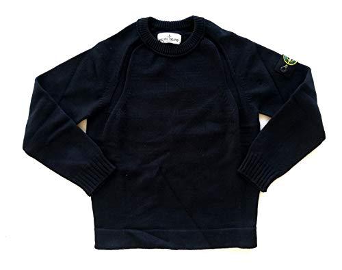 Stone Island Maglione Invernale Girocollo da Bambino in Cotone 7116508A2 (Nero, 6 Anni)