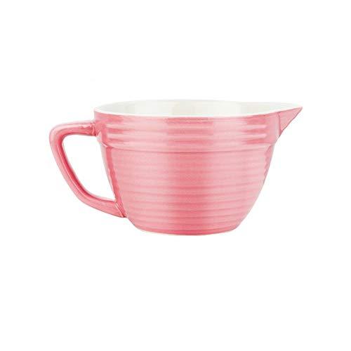 JZFUKSP Taza de café con agitación de cerámica Forma de Boca Puntiaguda Cómodo para Mantener el Color Simple y Fresco Adecuado para el tazón de Desayuno Yogur en la Hermosa mañana.