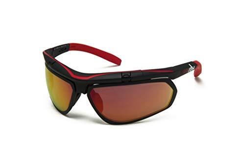 zerorh+ Sunglasses Olympo Airx, Occhiali/Maschere Sportglasses End Unisex – Adulto, Ml Red, Taglia Unica