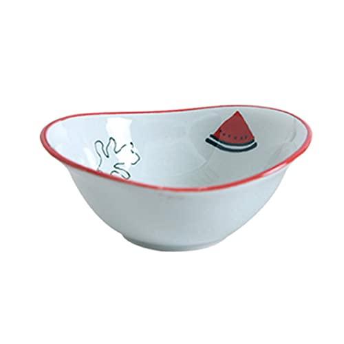 GGQF Postre Cuencos Ensalada Cuencos Fruta cerámica condimento Plato Plato Plato japonés Platos Platos Platos Salsa de vajilla Plato,C