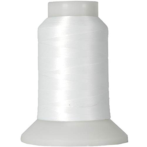Threadart Wooly Nylon Thread - 1000m Spools - Color 9101 - WHITE - Serger Sewing Stretchy Thread - 50 Colors Available