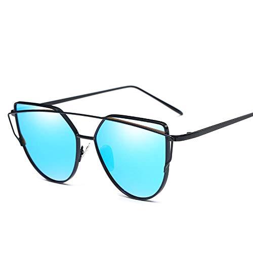 OcchialidaSoledaUomo Fashion Uv400 Gradient Occhiali da Sole per Donna Uomo Vintage Ottico Cat Eye Specchio Metallo Occhiali Classici Occhiali Blackblueglasses2