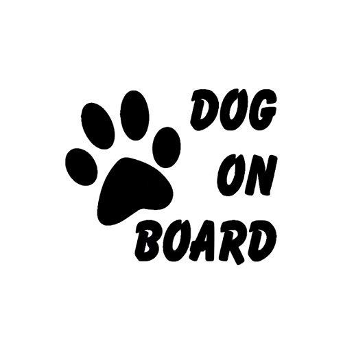 Funnyrunstore Lindo perro a bordo Etiqueta de auto Estilo de auto Huella de mascota Pata Cachorro Pegatinas reflectantes Calcomanías Accesorios de estilo de auto (negro)