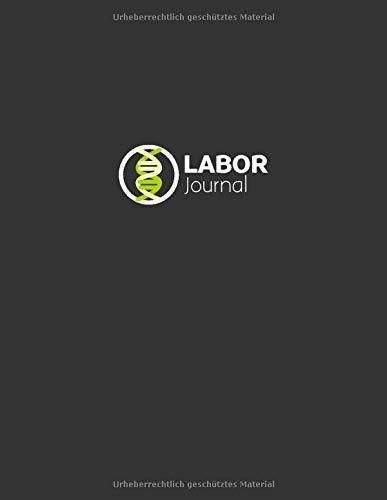 Laborjournal: Laborbuch / Labortagebuch / Labor Notizbuch für Chemiker, Physiker, Biologen, Mediziner, Laboranten, ca. A4, kariert mit Inhaltsverzeichnis, 100 Seiten, DNA grün