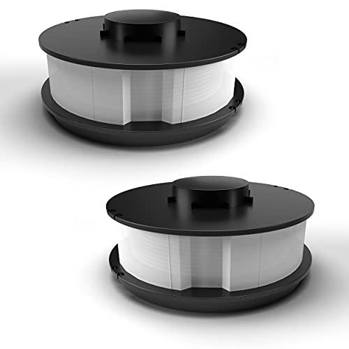 2 bobinas de doble hilo de repuesto para desbrozadoras King Craft TopCraft Gardenline GLR 450 451 452 453 GLT 451 452 453 GLT 451 452 453 Einhell RTV 550/1