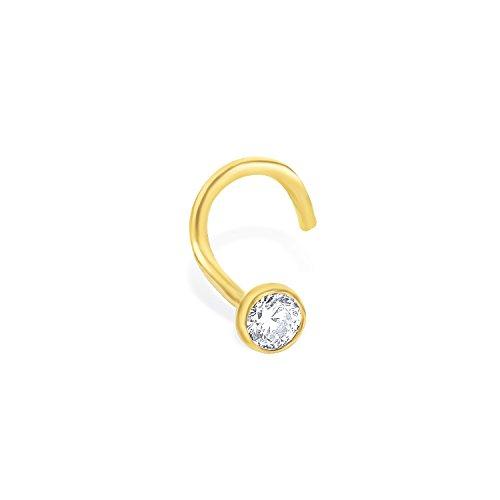 Amor Damen-Nasenstecker 750 Gold glänzend Hakenverschluss Zirkonia weiß 156165
