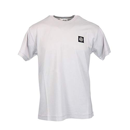 Stone Island Luxury Fashion Herren 721524113V0064 Grau Baumwolle T-Shirt | Frühling Sommer 20