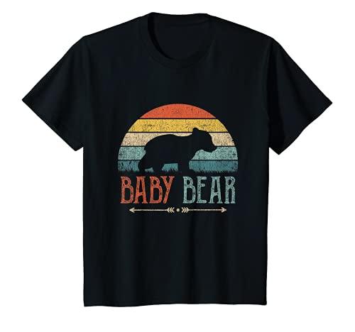 Kinder Baby Bär Vintage Retro Baby Geschenk Jungen Mädchen T-Shirt