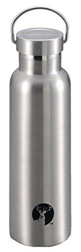 キャプテンスタッグ(CAPTAIN STAG) スポーツボトル 水筒 直飲み ダブルステンレスボトル 真空断熱 HDボトル 600ml シルバー UE-3365 外径73×高さ245mm
