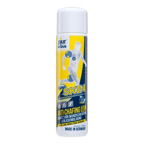 pjuractive 2SKIN - Anti-Chafing-Gel - Nie mehr Blasenpflaster & Wundscheuern - unsichtbarer & wasserfester Hautschutz - 100ml (1er Pack)