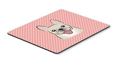 Caroline's Treasures BB1238MP Checkerboard Pink French Bulldog Mouse Pad, Hot Pad or Trivet, Large, Multicolor