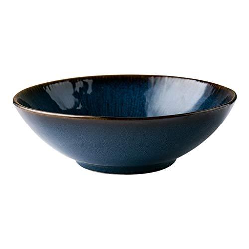 EIIDJFF Tazón de sopa de cerámica grande Ramen Bowl Restaurante Sopa Bowl Fruta Ensalada Bowl Postre Bowl Vajilla Hogar 20X7CM