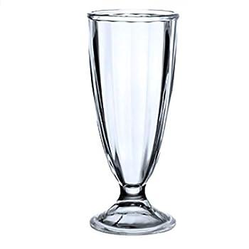 Retro Vintage Soda Fountain Design Milk Shake Ice Cream Soda Malted Smoothie Parfait Iced Tea Glasses 12 oz  2