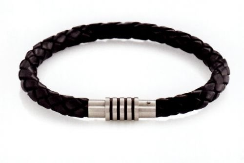 Boccia Damen Armband Titan Leder 21.0 cm 0347-0821
