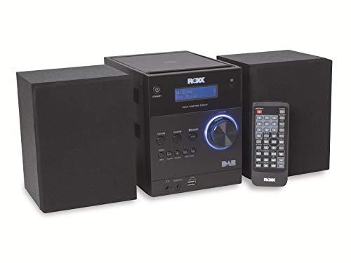 ROXX Stereoanlage mit CD, DAB+, UKW Radio, Bluetooth, AUX In und USB MC401 Black
