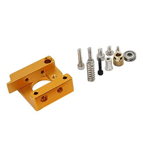 MK8 Extruder Aluminium blok 3D-printer Professionele linkerhand DIY-kit geel en zilver