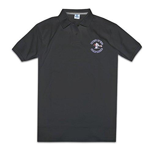 Hombre golf Polo camisas partido en la casa de cabra Logo rendimiento de impresión