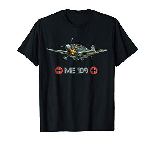 Vintage Me 109 Deutsches Kampfflugzeug Geschenk T-Shirt
