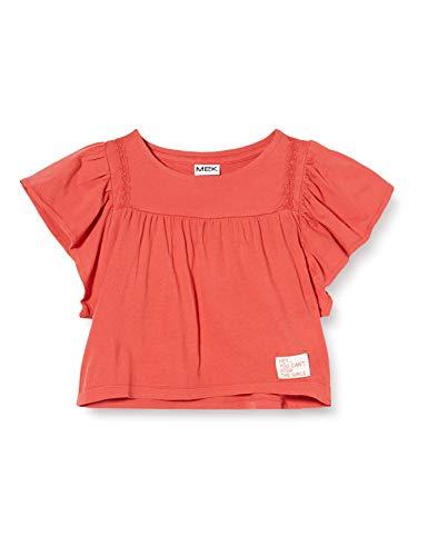 MEK T-Shirt M/c T.c. Camiseta de Tirantes, Rojo (Rossol Corallo 03 702), 140 (Talla del Fabricante: 10A) para Niñas