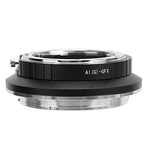 Mavis Laven Adaptador de Lente de cámara Adaptador de Lente Lente Adaptador de Lente portátil Anillo convertidor para Lente Nikon AI a para cámara Fujifilm GFX para cámara Fujifilm GFX