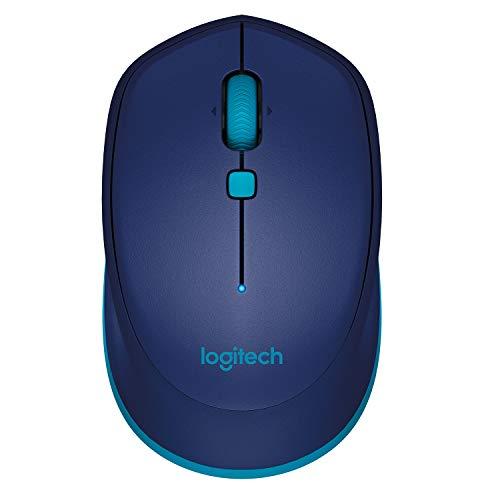 Logitech M535 Souris sans Fil, Bluetooth, Capteur Optique Laser 1000 PPP, Batterie Longue Durée 10 Mois, Compatible avec PC/Mac/Portable - Bleue