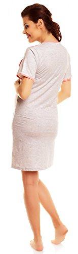 Zeta Ville Premamá - Camisón y Bata Set Embarazo y Lactancia - para Mujer - 385c (Coral, EU 42, L)