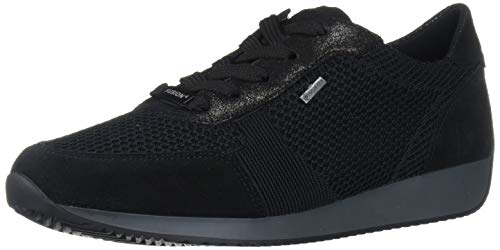 ARA Women's Lila Sneaker, Black Velour-Hydro Dustycalf, 5 Medium UK (7.5 US)