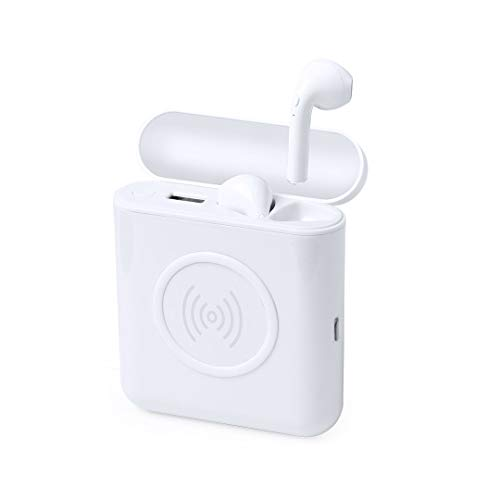 Auriculares inalámbricos Bluetooth 5.0 con estación de carga para portátil y funda de carga integrada para auriculares.