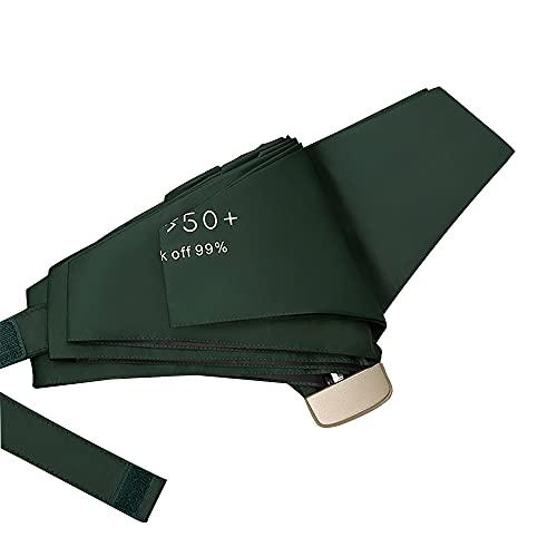 Mabor Paraguas de lluvia de viaje con protección UV a prueba de viento, paraguas plegable compacto para viajes, lluvia, sol, mini paraguas portátil ligero plegable para mujeres y niñas