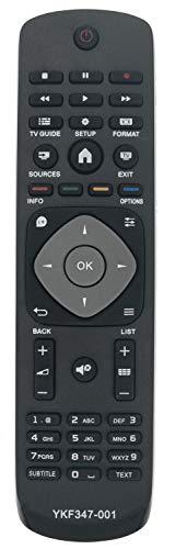ALLIMITY YKF347-001 Fernbedienung Ersetzt für Philips UHD TV 32PHT4001 39PHS4112 43PFS4112 43PFT4132 55PUK4900 32PHT4032 39PHT4112 43PFT4112 43PUH4900 49PFT4132 49PUK4900 55PUH4900