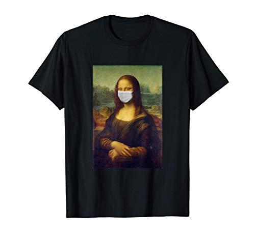 Cuadro famoso de Mona Lisa con máscara