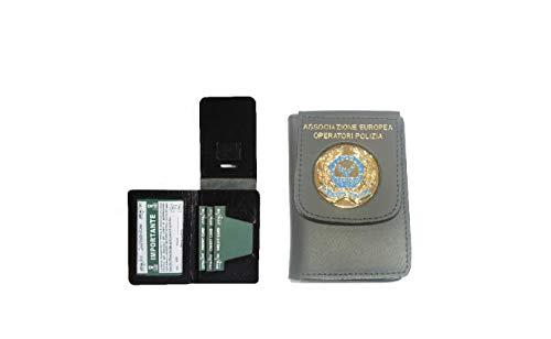 Portafoglio Portadocumenti con Placca A.E.O.P. Ass. Europea Operatori di Polizia Modello Vecchio Vega Holster Italia Art.1WD122